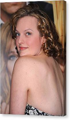 Elisabeth Moss At Arrivals For Did You Canvas Print by Everett
