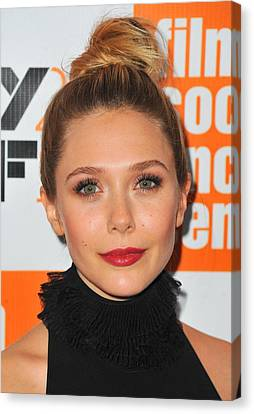 Elizabeth Olsen At Arrivals For Martha Canvas Print by Everett