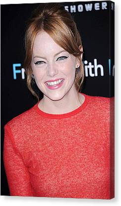 Emma Stone At Arrivals For Friends With Canvas Print by Everett