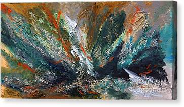 Canvas Print featuring the mixed media Emotions by J Cheyenne Howell
