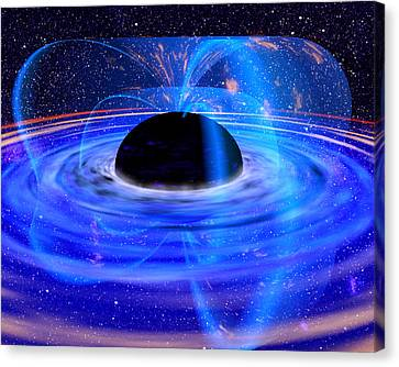 Energy-releasing Black Hole Canvas Print by Nasa