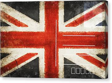 England Flag Postcard Canvas Print by Setsiri Silapasuwanchai