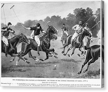 England: Polo, 1902 Canvas Print by Granger