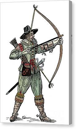 English Archer, 1634 Canvas Print by Granger