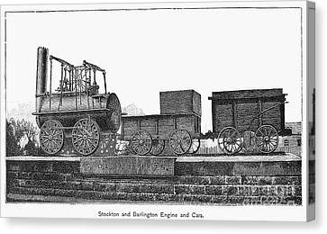 English Locomotive, 1825 Canvas Print by Granger