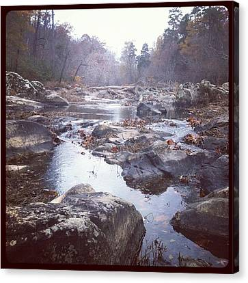 Canvas Print featuring the photograph Eno River by Shabnam Nassir