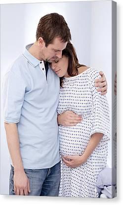 Expectant Parents Canvas Print by