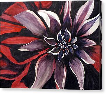 Canvas Print featuring the painting Extravaganza by Debi Singer