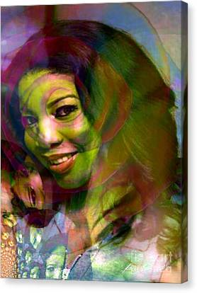Eyes Of Nigeria - Mona Lisa Canvas Print by Fania Simon