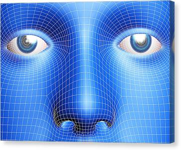 Face Biometrics Canvas Print by Pasieka