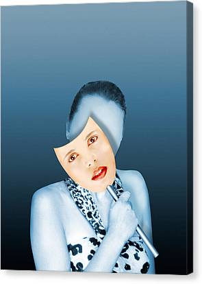 Face Transplant Canvas Print by Victor Habbick Visions