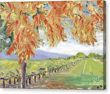 Fall In Napa Valley Canvas Print by Barbara Anna Knauf