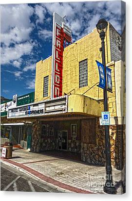Fallon Nevada Movie Theater Canvas Print by Gregory Dyer