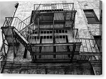 Fire Escape Canvas Print by Nancie Rowan
