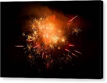 Firework Display At New Year's Eve Canvas Print by Olaf Broders