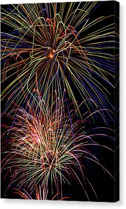 Fireworks Celebration Canvas Print by Garry Gay