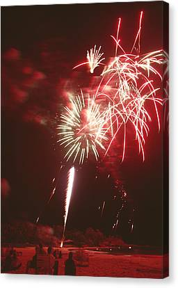 Fireworks Display Canvas Print by Magrath Photography
