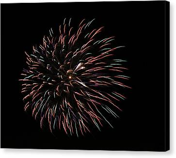 Fireworks Fun 3 Canvas Print by Marilyn Hunt