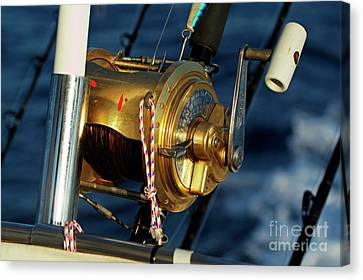 Fishing Rods Canvas Print by Sami Sarkis