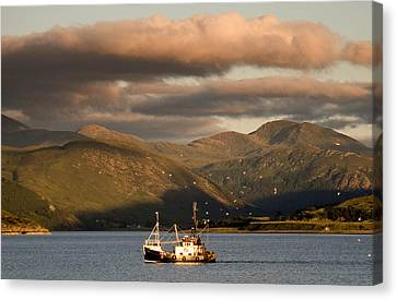 Canvas Print featuring the photograph Fishing Trawler by David Harding