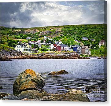 Fishing Village In Newfoundland Canvas Print by Elena Elisseeva