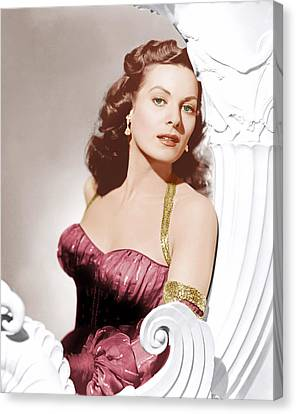 Flame Of Araby, Maureen Ohara, 1951 Canvas Print by Everett