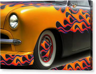 Flamed Merc Canvas Print by David  Hubbs