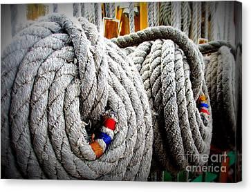 Fleet Week - Ship's Ropes Canvas Print by Maria Scarfone