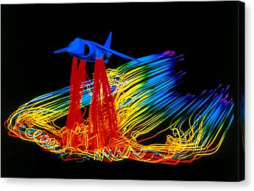 Flight Simulation Of A Harrier Jump-jet Canvas Print by Nasa Ames Research Centre