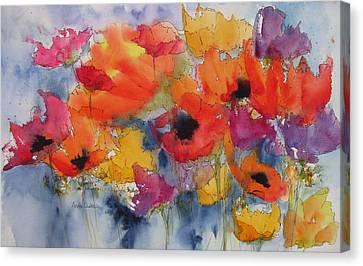 Floral Fantastic Canvas Print by Anne Duke