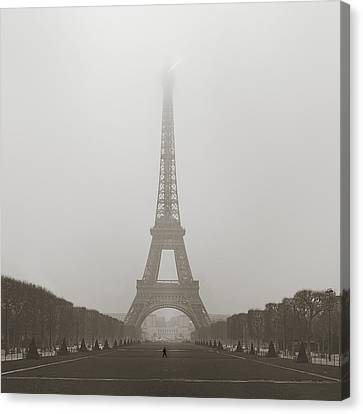 Foggy Morning In Paris Canvas Print