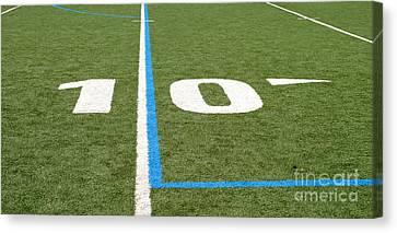 Canvas Print featuring the photograph Football Field Ten by Henrik Lehnerer