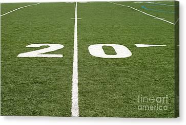 Canvas Print featuring the photograph Football Field Twenty by Henrik Lehnerer