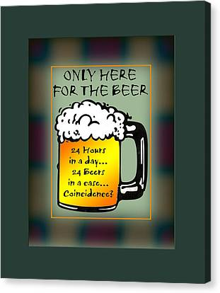 Alchol Canvas Print - For The Beer 1 by Daryl Macintyre