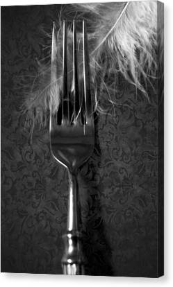 Fork And Feather Canvas Print by Joana Kruse