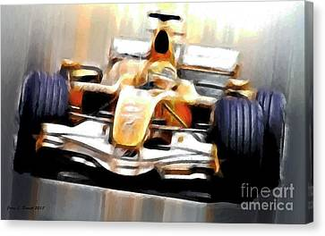 Formula One Canvas Print by Jerry L Barrett
