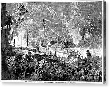 Fourth Of July, 1876 Canvas Print by Granger