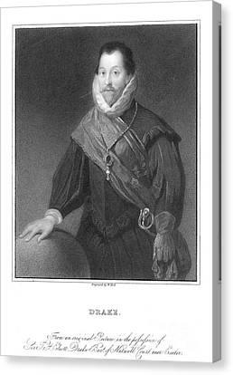 Francis Drake (1540?-1596) Canvas Print by Granger