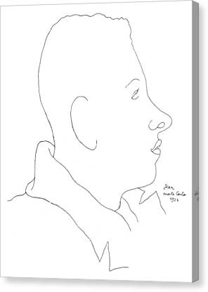 Francis Poulenc (1899-1963) Canvas Print by Granger