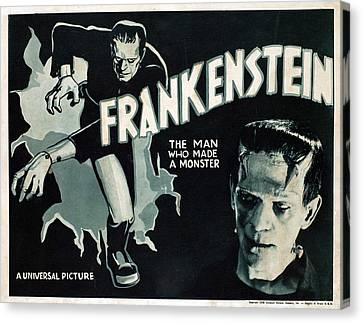 Frankenstein, Boris Karloff, 1931 Canvas Print by Everett