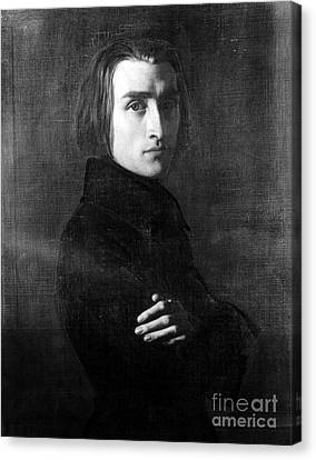 Franz Liszt, Hungarian Composer Canvas Print by Omikron