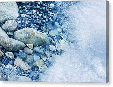 Forming Stones Canvas Print - Freezing River by Jeremy Walker