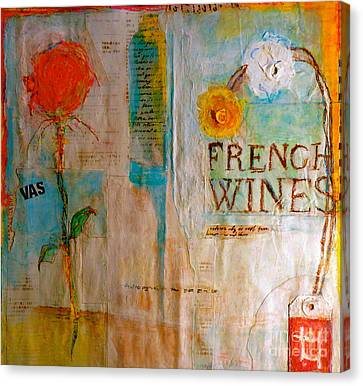French Wines II Canvas Print by Nancy Belle