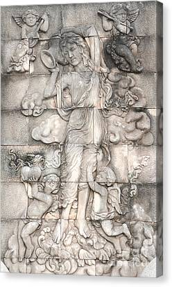 Frescoes Of Women In Mythology Canvas Print by Phalakon Jaisangat