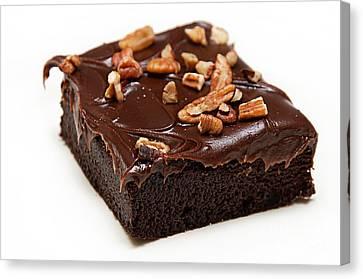Fudge Nut Brownie Canvas Print
