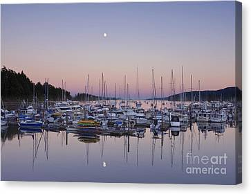 Full Moon Over Ganges Harbor Canvas Print