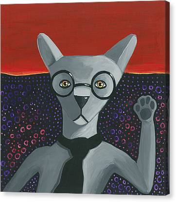 Funky Grey Canvas Print by Mike Lawrence