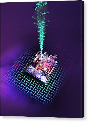 Future Computing, Conceptual Image Canvas Print by Richard Kail