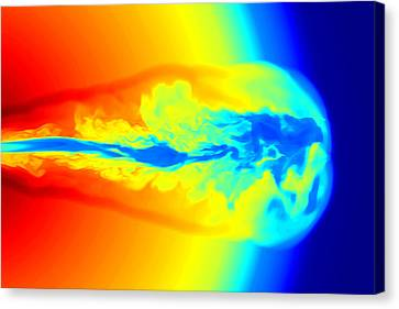 Gamma Ray Burst Formation Canvas Print by Weiqun Zhangstan Woosley