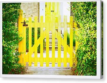 Fence Row Canvas Print - Garden Gate by Tom Gowanlock